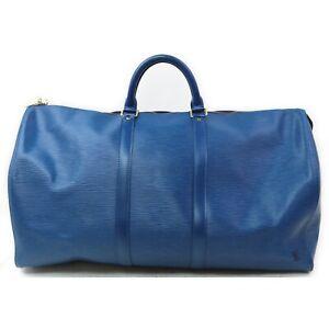 Louis Vuitton Travel Bag M42955 Keepall 55 Blue Epi 708139