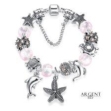 Bracelet Charms 17 cm Enfant Thème mer Dauphin Argent 925