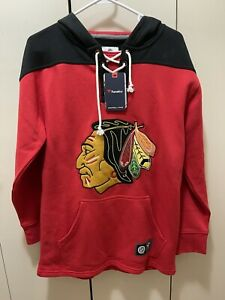 Chicago Blackhawks Fanatics Branded Franchise Pullover Red Hoodie Men's Size S
