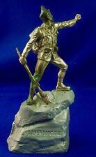 Antique Germany German Austria Ww1 Soldier Nickel Plated Figurine Statue