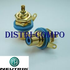 Embase RCA femelle Neutrik NYS367-6 bague bleue (lot de 2)