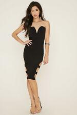 Forever 21/Sarah La Black LBD Strapless Cutout Bodycon Dress, S
