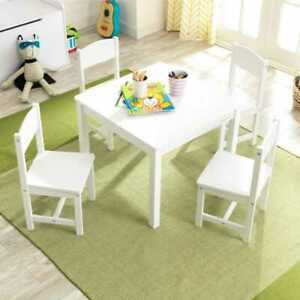 Kidkraft Farmhouse Table and 4 Chairs - White | Kids Wooden Play Table & Chairs