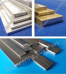 Metal Flat Bar Plate Aluminium, Brass & Mild Steel, various sizes, 50mm to 600mm