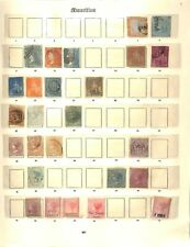 [OP3642] Mauritius lot of stamps on 5 pages