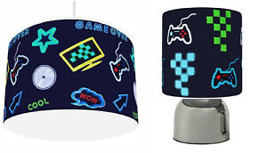 """GAME OVER XBOX PS4   choose Ceiling Light Shade 11"""" , Touch Lamp or Bundle"""
