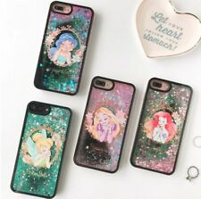 Princesas Disney Funda Carcasa liquido estrellas purpurina iPhone, Samsung