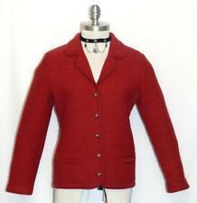 GEIGER ~ BOILED WOOL Austria RED Women Hunting Winter Dress JACKET Coat 38 6 S