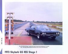 1972 Buick Skylark GS 455 Stage 1 info/specs/photo production numbers 11x8