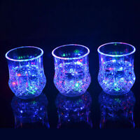 Colorful LED Glowing Beer Cup Induction Flashing Wine Bar Drink Glass Cups Y6N9