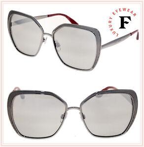 DOLCE & GABBANA GROS GRAIN 2197 Gunmetal Silver Mirror Square Sunglasses DG2197S