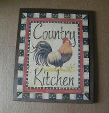 9x11 ROOSTER Country Kitchen primitive wood wall home decor chicken sign