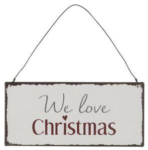 IB Laursen⚜️ We love Christmas ⚜️Wandschild⚜️Metall⚜️Weihnachten⚜️Advent
