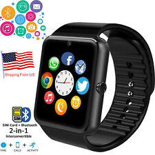Unlocked Android Bluetooth Smart Watch Phone Call Text For Samsung USPS Shipping