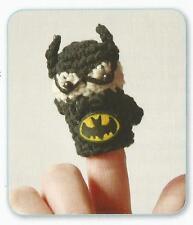 Crochet Pattern ~ Batman Finger Puppet Kids Toy ~ Instructions