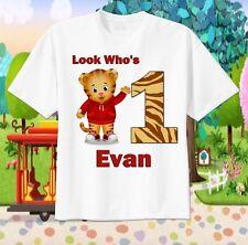 DANIEL TIGER Custom T-SHIRT Personalize tshirt Birthday gift Choose Name and Age