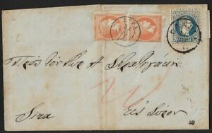 AUSTRIAN POST CRETA GREECE CANDIA 10 Sld+ HERMES HEAD COVER 1871