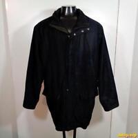 RAINFOREST Polyester Jacket COAT Jacket Mens Size XL Black w/ zip liner