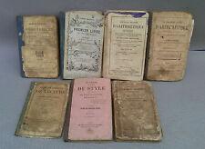 7 antichi libri per la scuola vintage matematica di geografia ecc. 19éme book