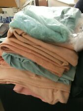 More details for job lot of vintage wool blankets whitney etc distressed some marks etc