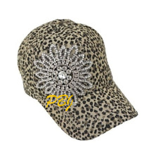 Olive and Pique Rhinestone Flower Baseball Cap Blinged Out Hat