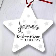 Ornamento del árbol de Navidad Personalizado Decoración-Star-más brillante estrella Memorial