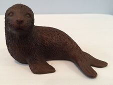 """VTG 3-1/4"""" Red Mill MFG Handcrafted Seal figurine Made From Crushed Pecan Shells"""