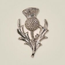Art Pewter Scottish Thistle Ladies Brooch Made in Scotland