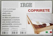 Coprirete matrimoniale singolo IRGE 2 piazze 1 piazza copri rete con laccetti