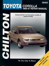 Chilton Repair Manual Toyota Corolla, 1988-97  #68302