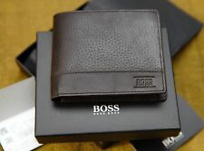 Brand New Hugo Boss 'Aspen' Style Dark Brown Trifold Leather Wallet