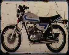 Benelli 125 T 80 A4 Metal Sign Motorbike Vintage Aged