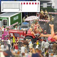 OO/HO Urban Scenery - Crowd control barriers, fences - Busch 1018 - free post F1