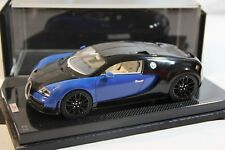 Bugatti Veyron Super Sport Blue/Black #1 on Carbon Base, Limited 30 pcs MR 1/18