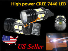2X 7440 T20 & 12SMD High Power CREE 7W Tail/Backup/Turn Signal LED Light Bulbs