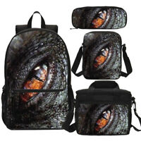 Jurassic World Dinosaur Eye Print Backpack Kids Boys School Bag Set Custom Lot