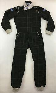 Authentic Sparco racing race karting kart suit FIA 2002 004 black size 52