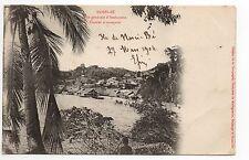 MADAGASCAR NOSSI BE colonie française Vue générale d'Ambanoro cocotier