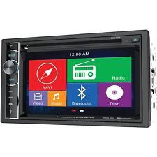 NEW Car Audio CD DVD Media Head Unit.Dual Din.Amplifier Receiver.FM.AM.Tune.GPS.