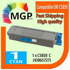 1x Cyan Compatible Toner cartridge for OKI C5850 C5950 MC560 Color Printer