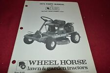 Wheel Horse A-50 Riding Mower Parts Book Manual BVPA