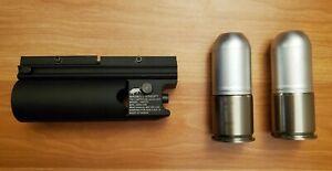 Airsoft Madbull Mini Grenade Launcher with 2x Shells