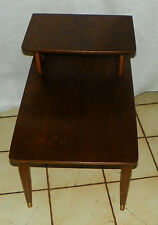 Mid Century Walnut Step End Table / Side Table by Lyon  (T538)