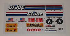 GI Joe Raider Sticker Decal Sheet