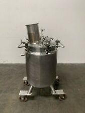 LEE 100 Liter Stainless Steel Jacketed Reactor w/ Agitator 30 PSI