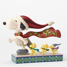 Enesco Jim Shore Peanuts Christmas – Ice Skating Snoopy Figurine 4052718