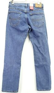 New Signature Levi Strauss Mens Modern Fit Relaxed Stretch Denim Jeans 30 x 32