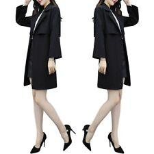 Women Plus Size L-4XL Windbreaker Coat Formal Business Classic Overcoat Trench D