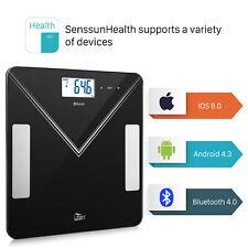 Digitale Körperfettwaage 7 in1 Bluetooth Personenwaage Körperanalysewaage 180 kg