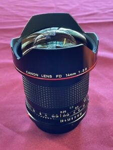 Canon FD 14mm F2.8 L Super Wide, EX++ almost never used perfect, super rare!